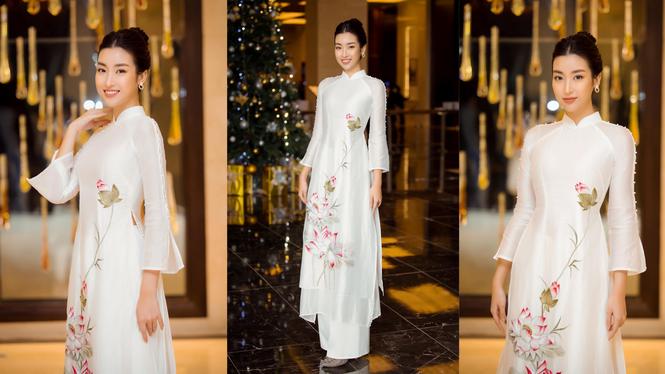 Hoa hậu Đỗ Thị Hà diện đầm khoét eo quyến rũ nhất tuần - ảnh 4