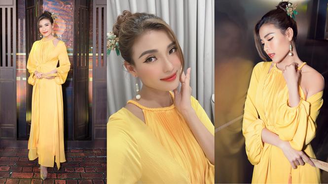 Hoa hậu Đỗ Thị Hà diện đầm khoét eo quyến rũ nhất tuần - ảnh 5