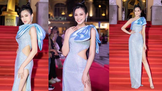 Hoa hậu Đỗ Thị Hà diện đầm khoét eo quyến rũ nhất tuần - ảnh 1