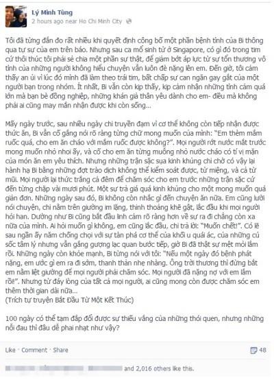 Tự truyện được trích đăng trên facebook của người lý