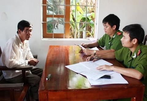 Nghi can Thái tại cơ quan điều tra