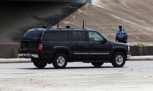 Xe phá sóng của cảnh sát Mỹ là loại dân dụng gầm cao