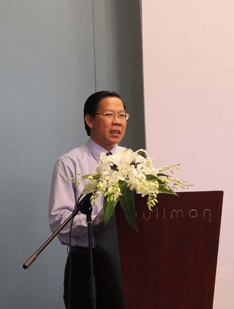Anh Phan Văn Mãi - Bí thư thường trực T.Ư Đoàn, Chủ tịch Hội LHTN Việt Nam phát biểu tại lễ ký kết hợp tác