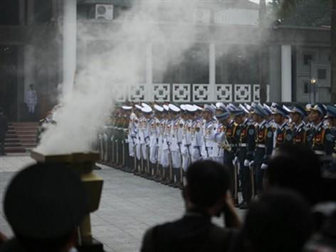Lễ Truy điệu Đại tướng Võ Nguyên Giáp diễn ra nghiêm trọng