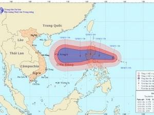 Hướng đường đi và vị trí cơn bão. (Nguồn: nchmf.gov.vn)