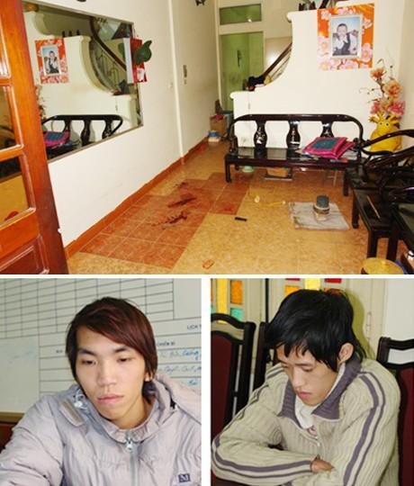 Hiện trường vụ án mạng và hai hung thủ máu lạnh Nguyễn Duy Hà và Vũ Ngọc Lương