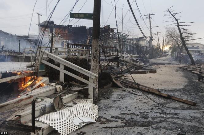 Quang cảng của thành phố New York sau khi cơn bão Sandy ập tới