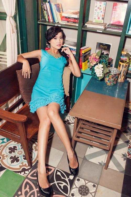 Người đẹp Tây Đô Kim Ngọc khoe chân dài nuột nà - ảnh 4