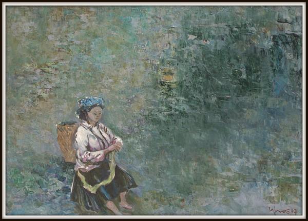 Xe lanh, 2007, Sơn dầu