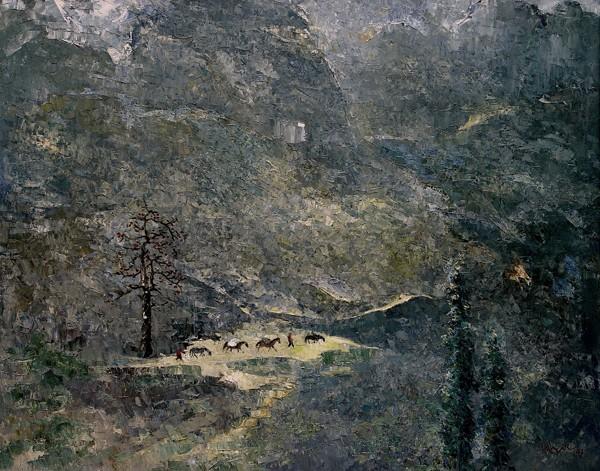 Núi Đồng Văn, 2007, sơn dầu