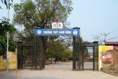 Trường THPT Hàm Rồng, TP Thanh Hóa, một trong những trường có nhiều thí sinh bị phát hiện đánh dấu bài