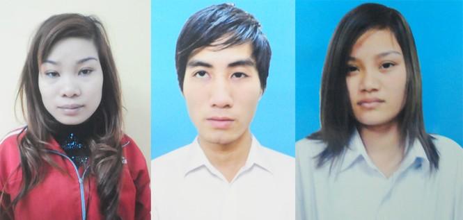 Ba đối tượng Nguyễn Hữu Minh Hương, Lê Văn Thành và Nguyễn Khánh Ly