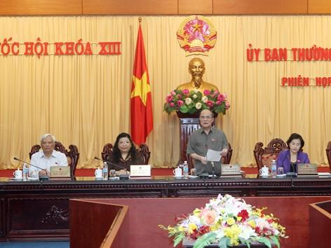 Chủ tịch Quốc hội Nguyễn Sinh Hùng phát biểu tại phiên khai mạc. ảnh: Phan Sáng