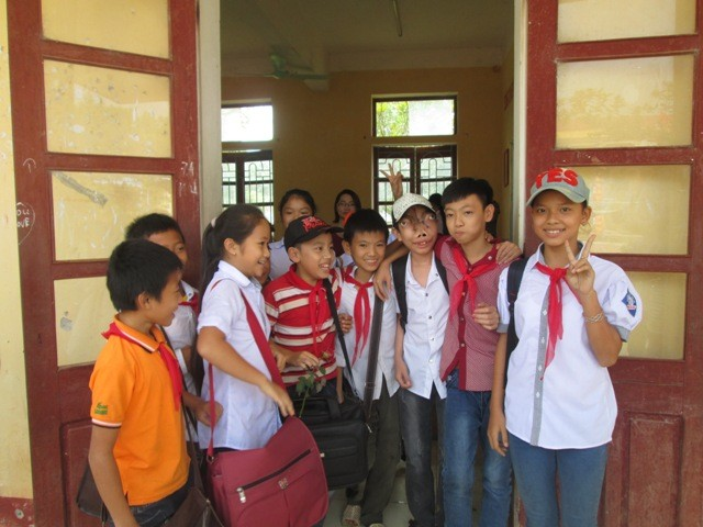 Gần một tháng đến trường, Tuấn được các bạn rất quý mến