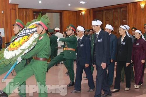 Các nghi lễ viếng Đại tướng được thực hiện rất trang trọng