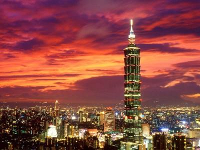 Tháp 101, một trong những địa điểm thu hút khách du lịch tài Đài Bắc.