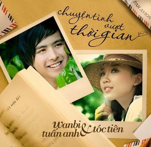 Hình ảnh chàng ca sĩ trẻ và Tóc Tiên khi cho ra album