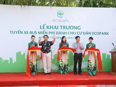 Lễ khai trương xe bus Ecopark chất lượng cao
