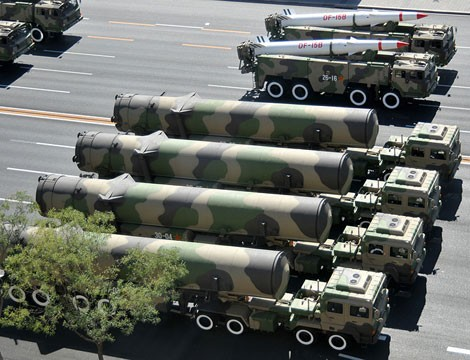 Trung Quốc khoe dàn tên lửa DF-31 trong lễ diễu binh ở Thiên An Môn