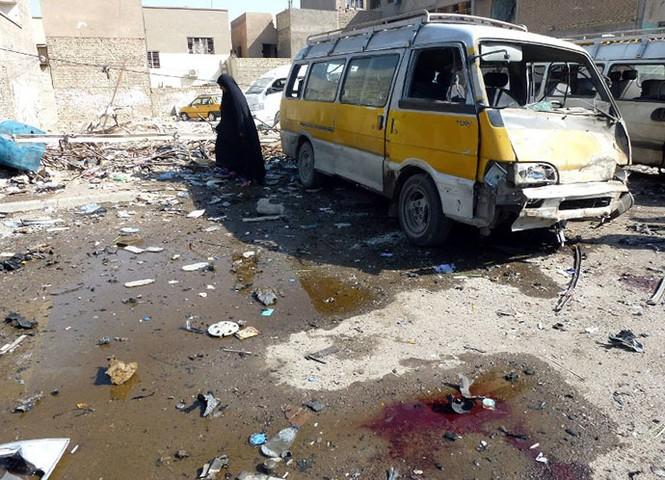 56 người thiệt mạng, 30 người bị thương trong hàng loạt vụ đánh bom ở Iraq