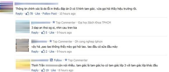 Những bình luận trái chiều của cư dân mạng về bài toán hóc búa (Ảnh chụp màn hình)