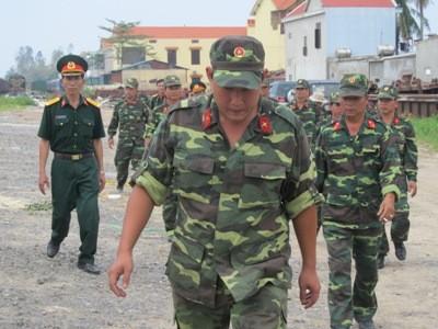 Những chiến sĩ quân khu 7 có mặt tại Đồng Hới
