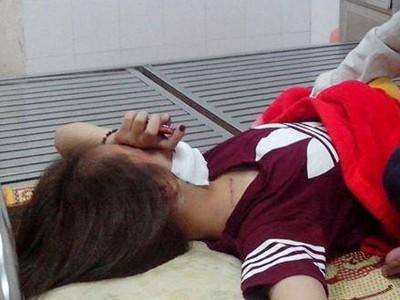 Nạn nhân Dung đang điều trị tại bệnh viện ngày 1/10