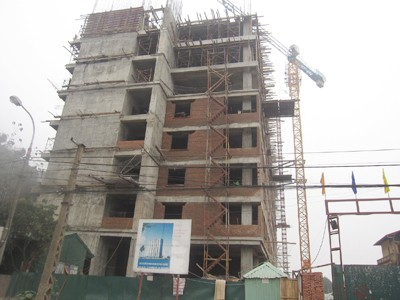 Chung cư xây dựng không phép ở phường Hoàng LIệt