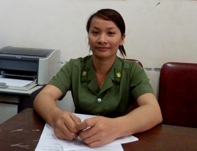 Chân dung 'bóng hồng' công an viên duy nhất xứ Nghệ Lang Thị Hằng. Hằng hiện đang công tác tại Ban công an thị trấn Kim Sơn, huyện Quế Phong, Nghệ An