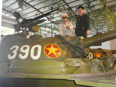 Xe tăng 390 tại Bảo tàng Lực lượng Tăng-Thiết giáp             Ảnh: K.N