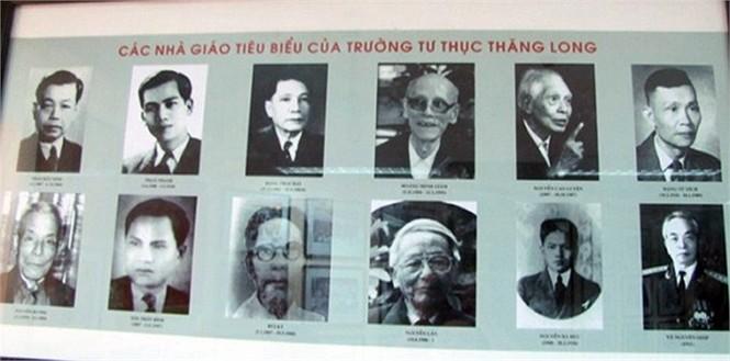 Các thế hệ thầy giáo đầu tiên trường tiểu học Thăng Long