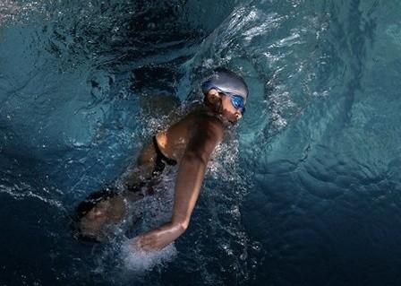 Cảm giác thật thoái mái và thư giãn khi bơi lội, Hongyan cho biết