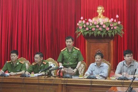 CA Hà Nội họp báo thông tin về vụ việc