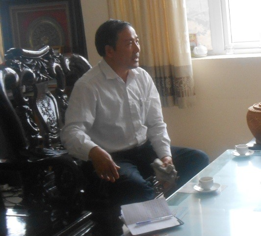 Ông Đỗ Đình Hùng, Giám đốc Bệnh viện Đa khoa huyện Thiệu Hóa