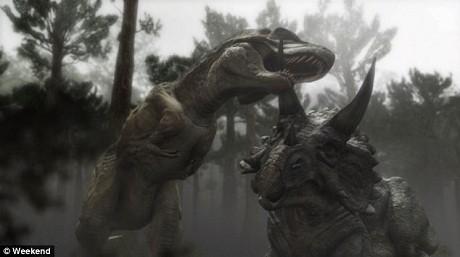 Triceratop là một loài khủng long ăn thực vật cao khoảng 3m. Nó cùng sinh sống với loài khủng long T-rex và thường trở thành mồi của T-rex. T-rex có lợi thế về kích thước, nó thường cao hơn 3,5m, dài 12m