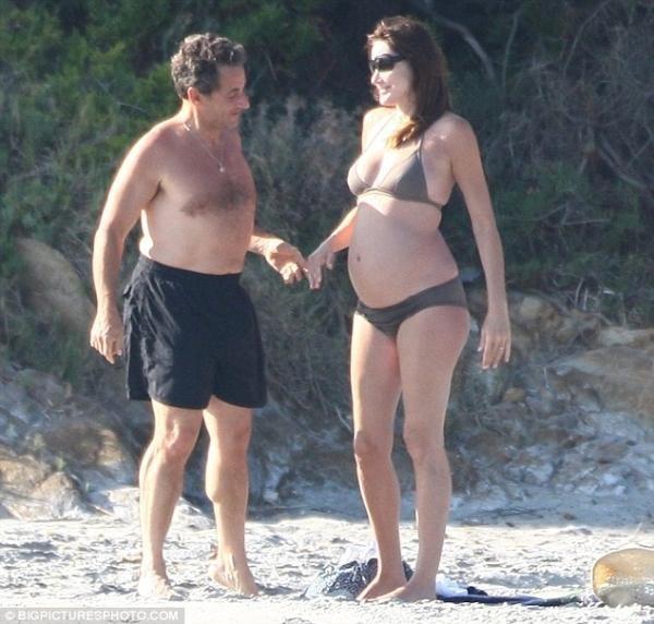 Tuy thừa nhận mang thai nhưng bà Sarkozy từ chối tiết lộ giới tính thai nhi