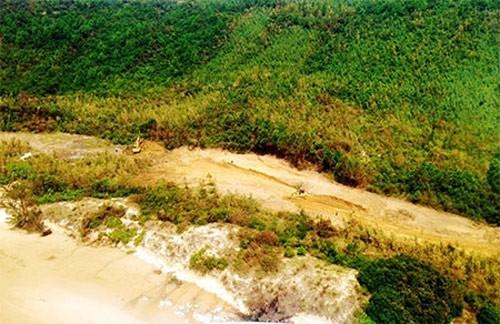 Khu vực an táng chụp từ máy bay trực thăng