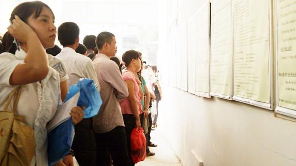 Số liệu thống kê sinh viên thất nghiệp sẽ giúp định hướng nghề nghiệp tốt hơn (Trong ảnh: Tìm kiếm thông tin tuyển dụng tại phiên giao dịch việc làm ở Hà Nội)