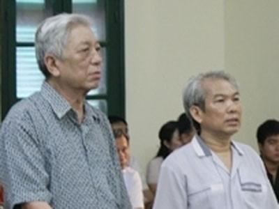 Hai bị cáo trước tòa