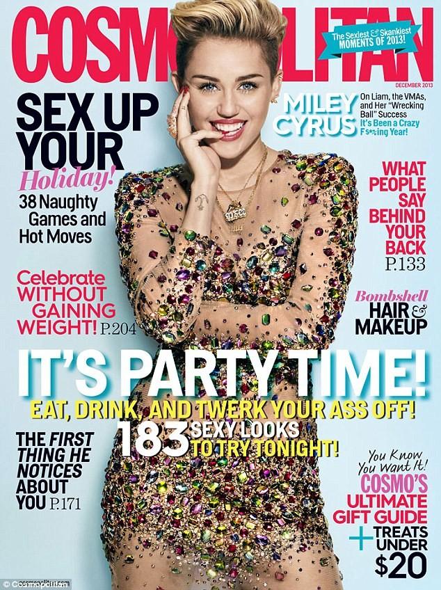 Miley Cyrus đẹp lộng lẫy với áo đính đầy đá quý - ảnh 1