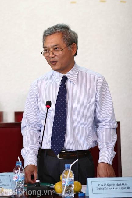 PGS.TS Nguyễn Mạnh Quân (Trường Đại học Kinh tế Quốc dân)