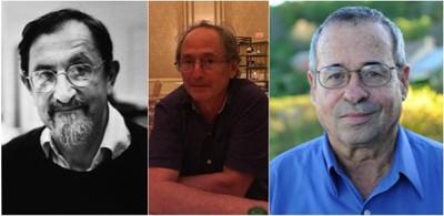 (Từ trái sang) Nhà khoa học Martin Karplus, Michael Levitt và Arieh Warshel.             Ảnh: Business Insider