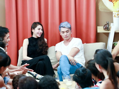 Thủy Tiên khoe da trắng muốt ở nhà chung Next Top Model - ảnh 3