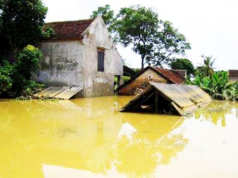 Bom nước nhấn chìm làng mạc