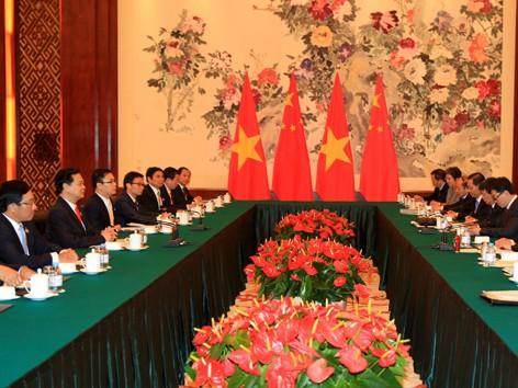 Hội đàm giữa Thủ tướng lý Khắc Cường và Thủ tướng Nguyễn Tấn Dũng