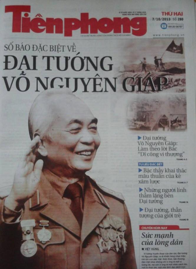 Báo Tiền Phong ngày 7/10: 19 trang đặc biệt về Đại tướng Võ Nguyên Giáp - ảnh 1