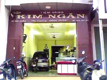Tiệm vàng Kim Ngân nơi vừa xảy ra vụ mất trộm