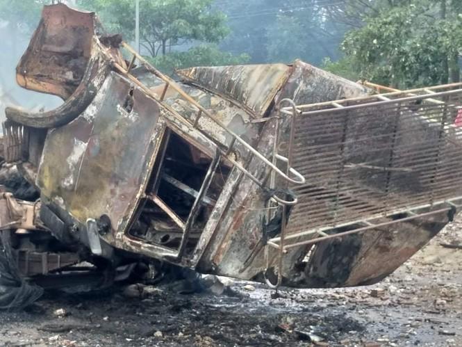 Một người Việt tử vong trong vụ cháy nổ kinh hoàng ở Lào - ảnh 1