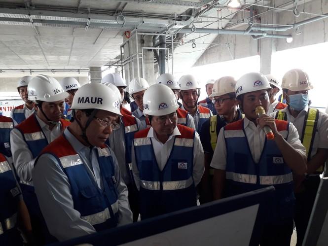 Phó Thủ tướng Phạm Bình Minh thị sát tuyến metro số 1,gỡ vướng các dự án vốn ODA - ảnh 6