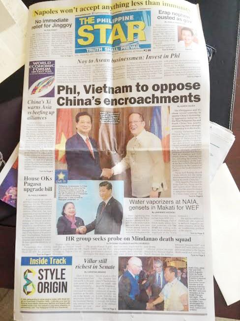 Báo giới Philippines đồng loạt đưa tin phản bác Trung Quốc     - ảnh 1